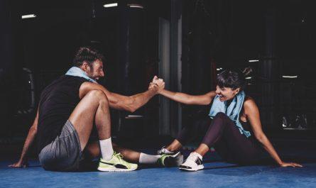 para trenuje na siłowni