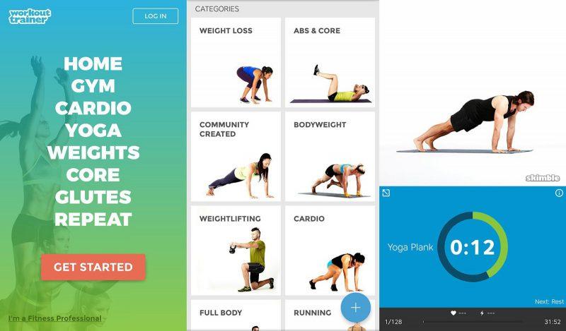 aplikacja workout trainer